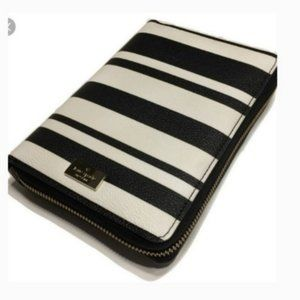 kate spade bon bon stripe zip around agenda nwot